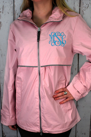 Charles River Women's New Englander Pink Rain Jacket #5099 *Customizable!