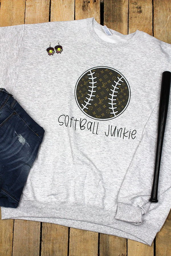 Softball Junkie Fashion Unisex NuBlend Crew Sweatshirt