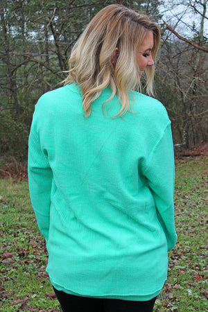 Pennant Women's Mint Washed Cord Crew