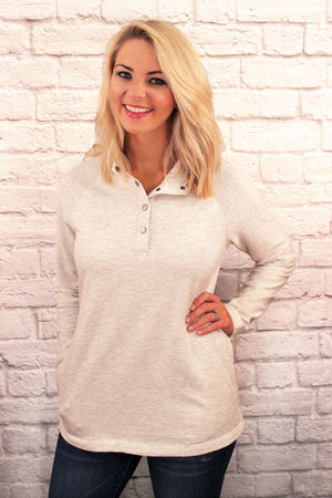 Charles River Women's Ivory Heather Falmouth Pullover *Personalize It!