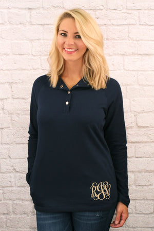 Charles River Women's Navy Falmouth Pullover *Personalize It!