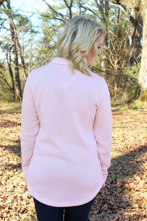 Charles River Women's Hingham Tunic, Pink Pale Heather *Personalize It!