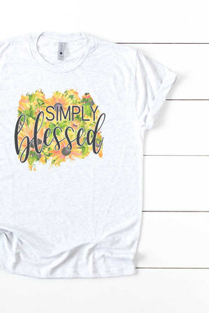 Sunflower Simply Blessed Tri-Blend Crew Tee