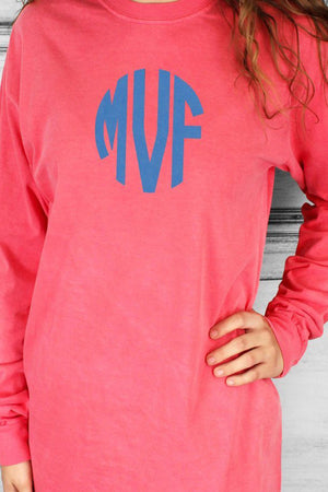 Shades of Pink/Purple Comfort Colors Long Sleeve T-Shirt