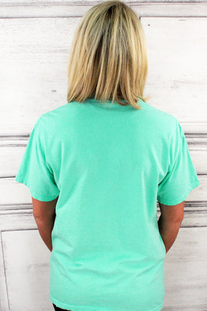 Shades of Green/Yellow Comfort Colors Adult Ring-Spun Cotton Pocket Tee *Personalize It