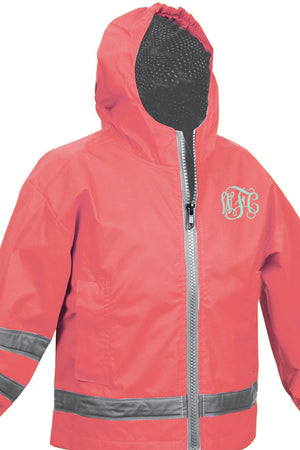 Charles River Toddler New Englander Coral Rain Jacket *Customizable!