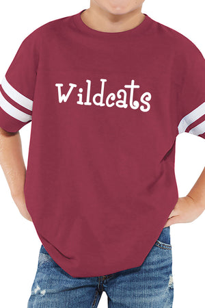 L.A.T. Youth Fine Jersey Varsity Tee, Burgundy #6137 *Personalize It