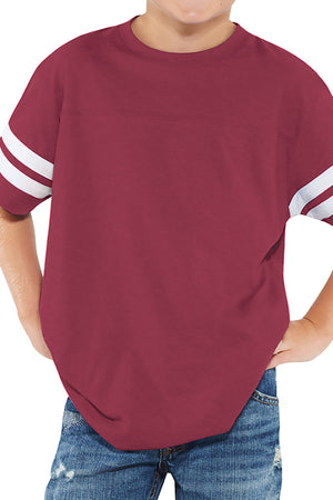 L.A.T. Youth Fine Jersey Varsity Tee, Burgundy *Personalize It