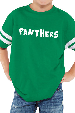 L.A.T. Youth Fine Jersey Varsity Tee, Vintage Green *Personalize It