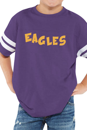 L.A.T. Youth Fine Jersey Varsity Tee, Vintage Purple #6137 *Personalize It