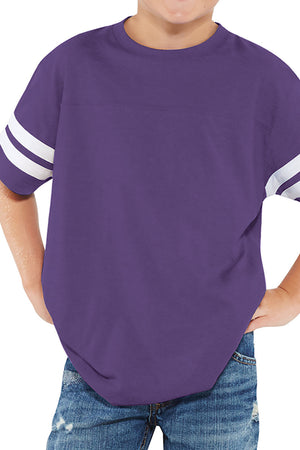 L.A.T. Youth Fine Jersey Varsity Tee, Vintage Purple *Personalize It