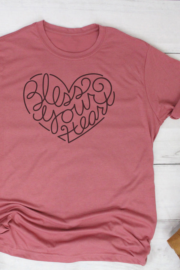 Bless Your Heart Poly/Cotton Tee