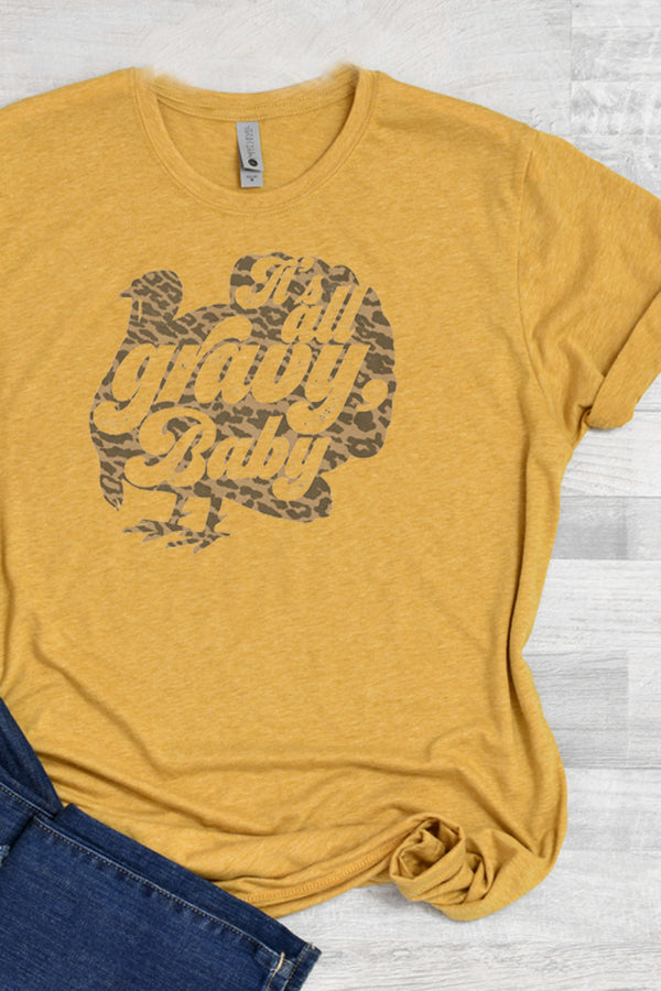 It's All Gravy Baby Turkey Poly/Cotton Tee