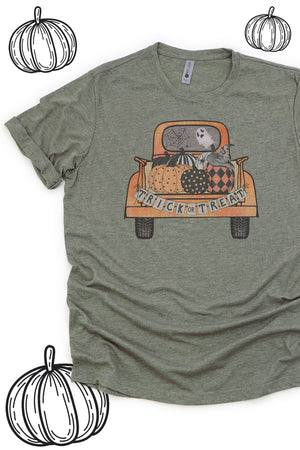 Trick Or Treat Truck Poly/Cotton Tee