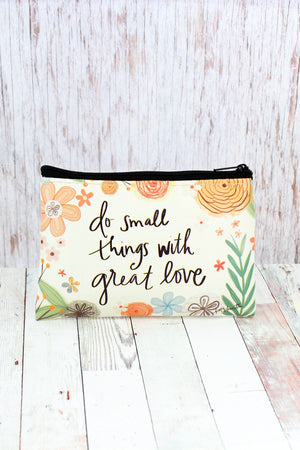Do Small Things With Great Love Zippered Coin Purse