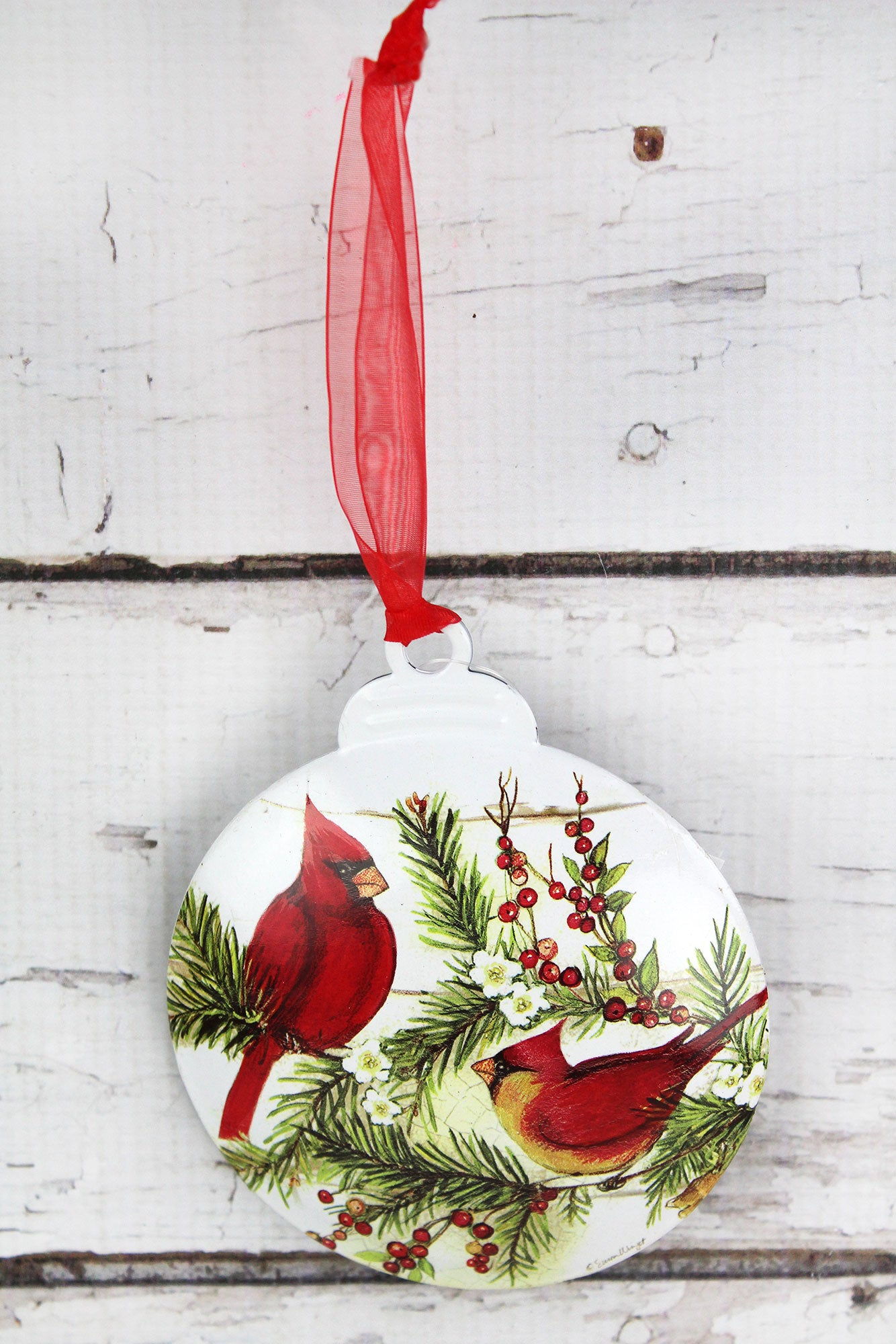 5 x 425 cardinal christmas ornament