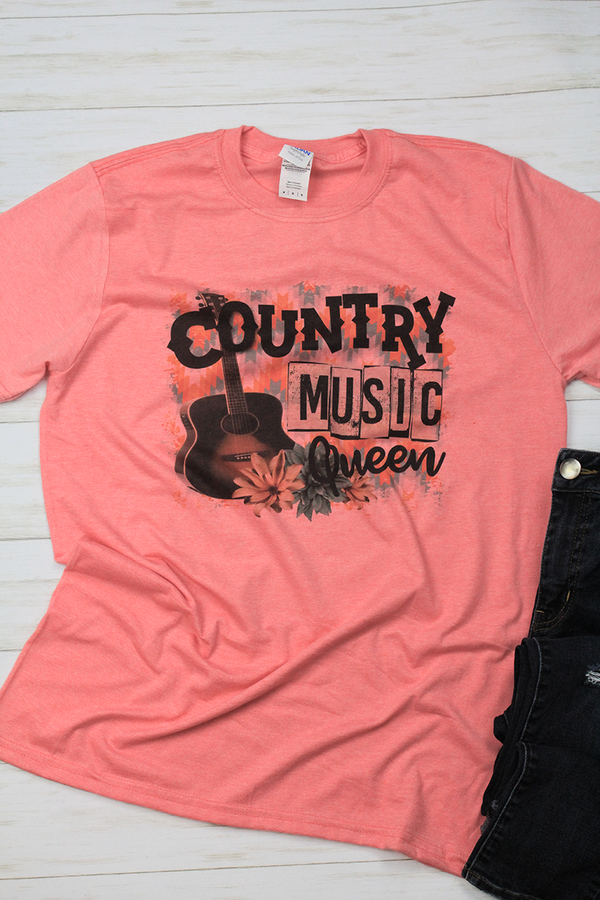Country Music Queen Softstyle Adult T-Shirt