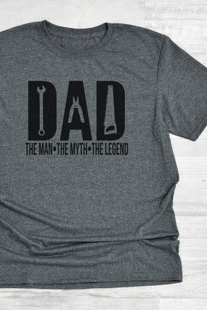 Dad Man Myth Legend Softstyle Adult T-Shirt