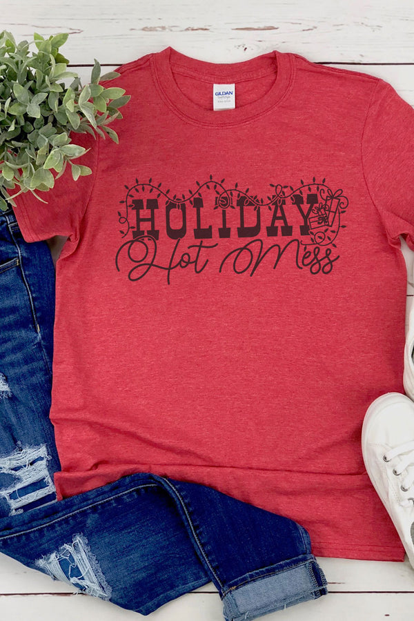 Holiday Hot Mess Softstyle Adult T-Shirt