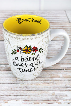 A Friend Loves Simple Inspirations Ceramic Mug