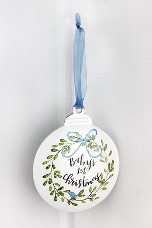5 x 4.25 Boy Baby's 1st Christmas Ornament