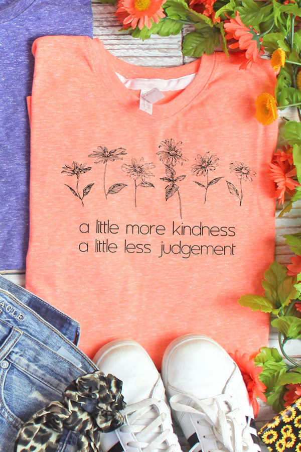 Little More Kindness Melange Jersey Tee