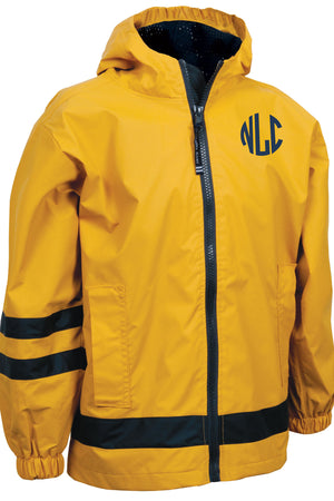 Charles River Children's New Englander Yellow Rain Jacket *Customizable!
