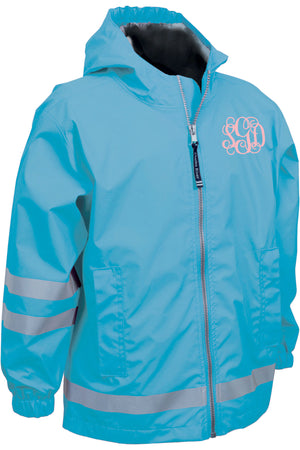 Charles River Children's New Englander Wave Rain Jacket *Customizable!