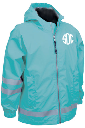 Charles River Children's New Englander Aqua Rain Jacket *Customizable!