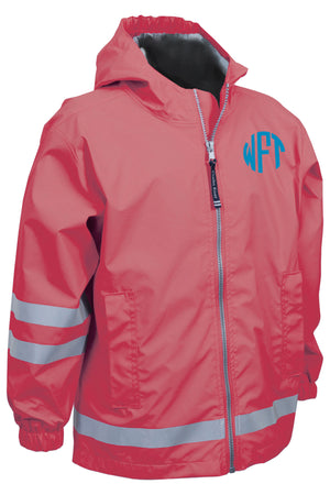 Charles River Children's New Englander Coral Rain Jacket *Customizable!
