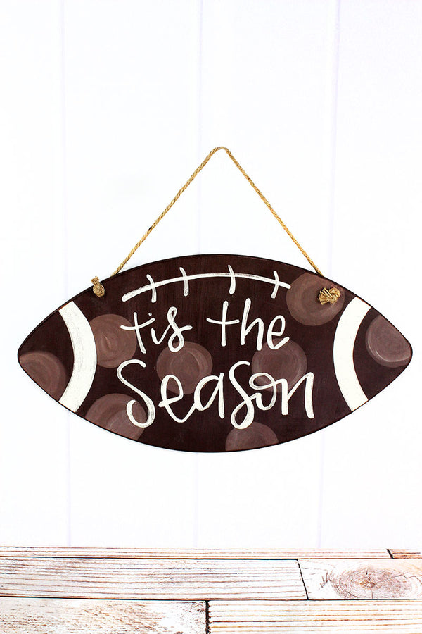 12.25 x 23.5 'Tis The Season' Football Door & Wall Sign