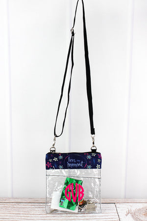 Love The Moment Clear Crossbody Bag