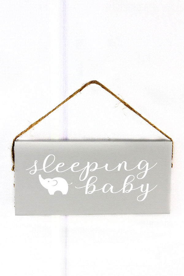 3.5 x 6.5 'Sleeping Baby' Wood Sentiment Sign
