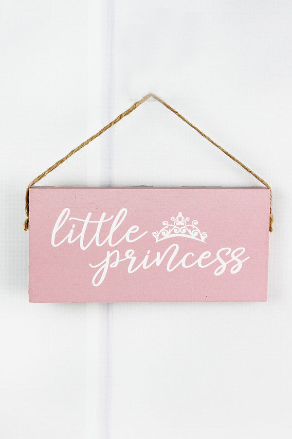3 x 6.5 'Little Princess' Wood Sentiment Sign