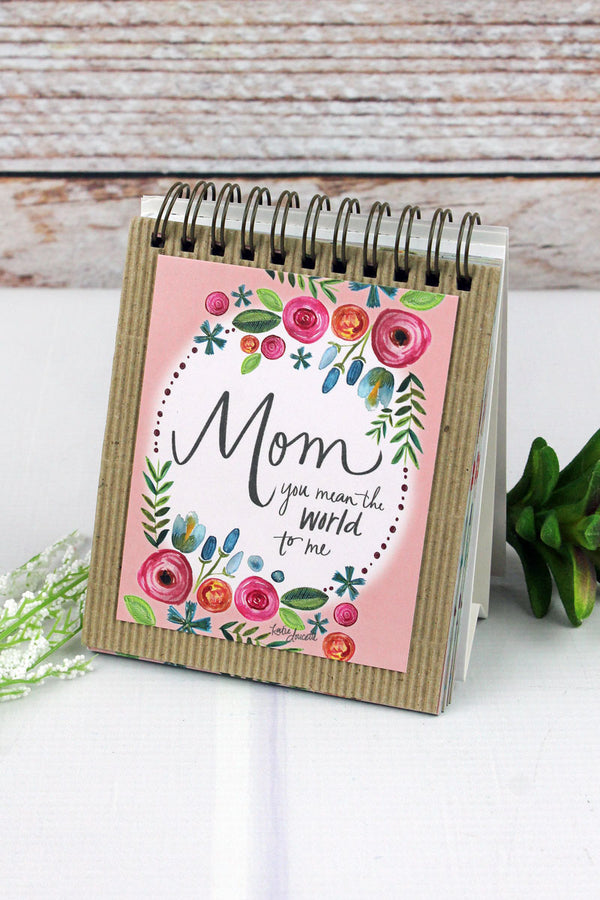 Mom You Mean The World To Me Easel Book