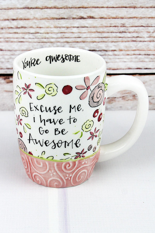 Go Be Awesome Simple Inspirations Ceramic Mug