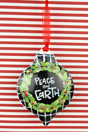 5.5 x 4 'Peace On Earth' Ornament