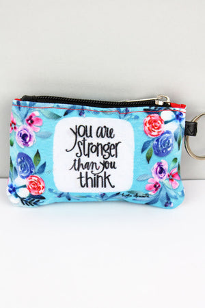 You Are Stronger Than You Think ID Wallet Keychain