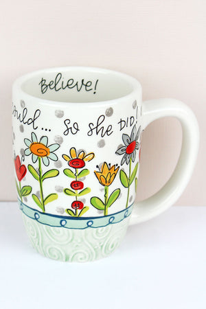 She Believed She Could Simple Inspirations Ceramic Mug