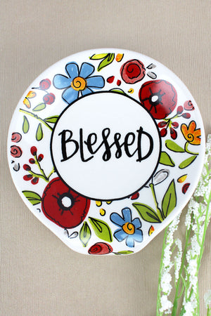 4.5 x 4 Ceramic Blessed Spoon Rest