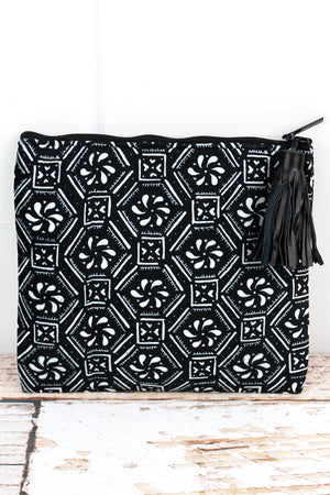 Geometric Boho Velour Fashion Bag