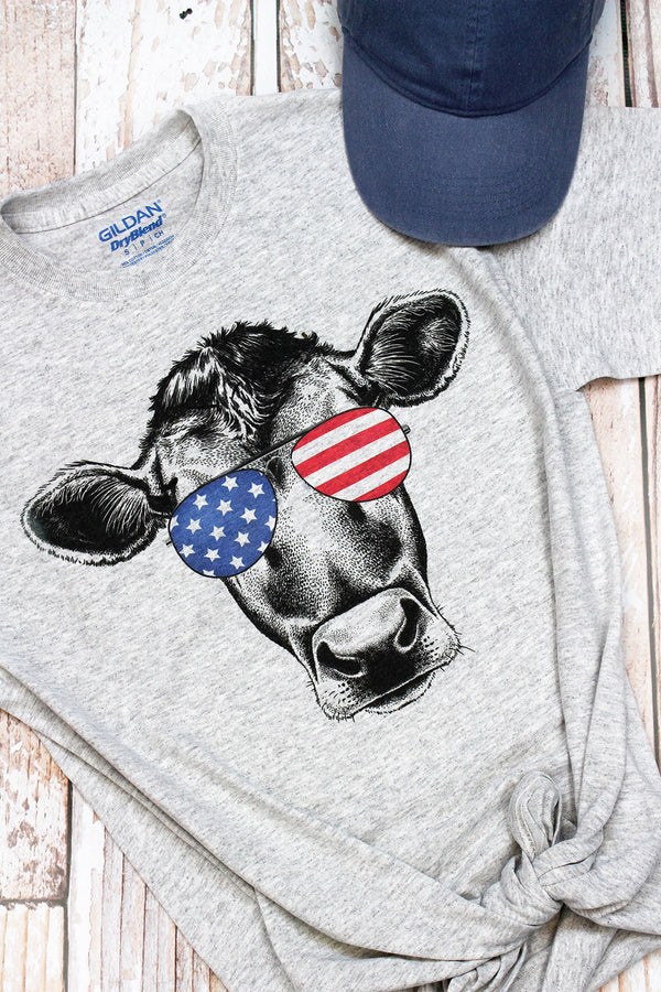 Moo In The USA Adult DryBlend Tee