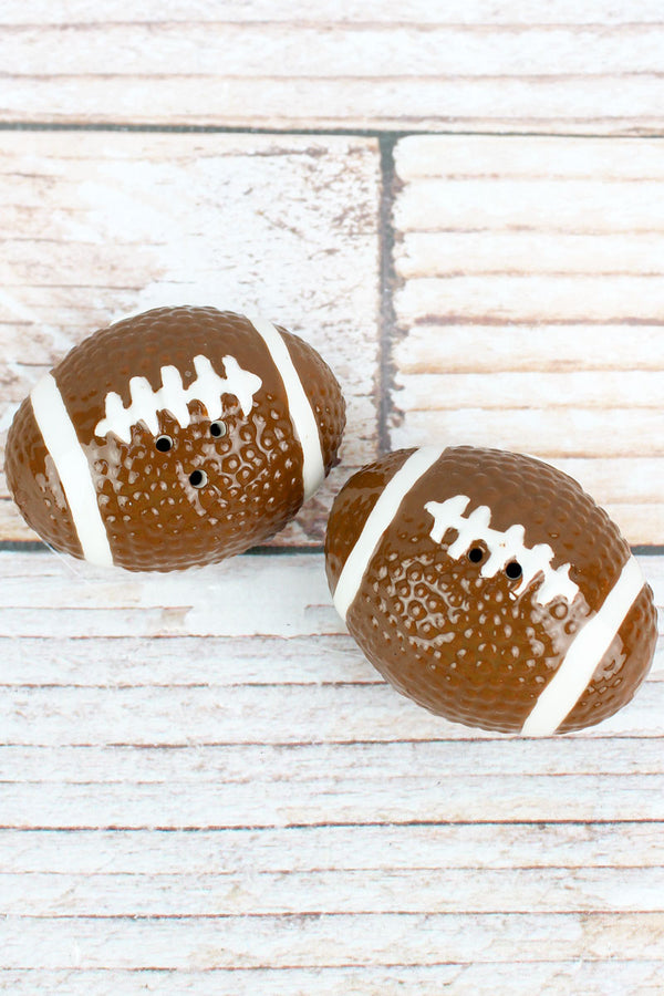 Ceramic Football Salt & Pepper Shaker Set