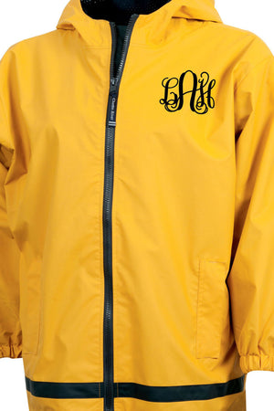 Charles River Youth New Englander Yellow Rain Jacket *Customizable!