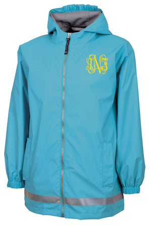 Charles River Youth New Englander Wave Rain Jacket *Customizable!