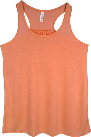Coral - Bella+Canvas Women's Flowy Racerback Tank #8800 *Personalize It