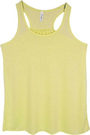 Neon Yellow - Salty Hair and Sandy Toes Women's Flowy Racerback Tank #8800 *Choose Your Color
