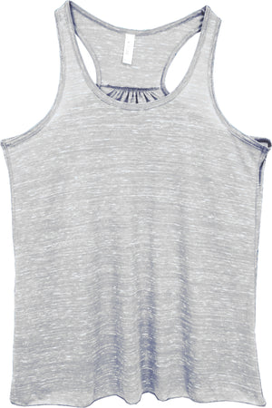 White Marble - Bella+Canvas Women's Flowy Racerback Tank #8800 *Personalize It