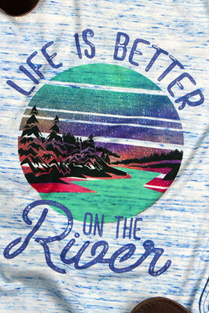 Life Is Better At The River Flowy Racerback Tank