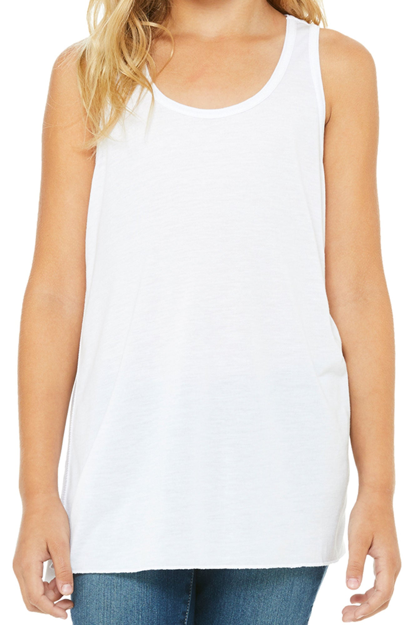 25c7e8e8826cf1 Let Your Light Shine Youth Flowy Racerback Tank